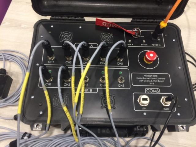 Hybrid rocket valve controller