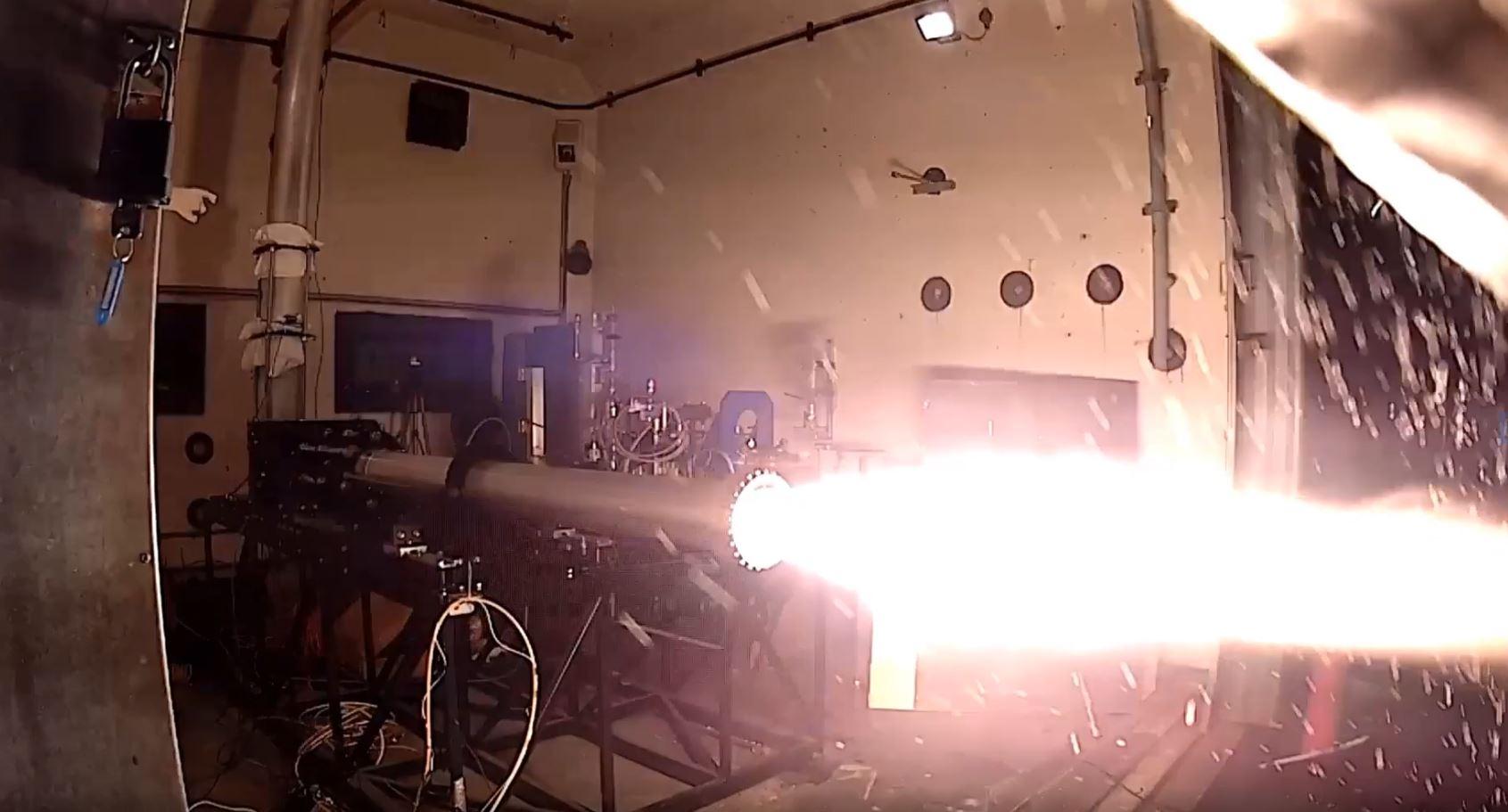 Pulsar hybrid rocket static test firing