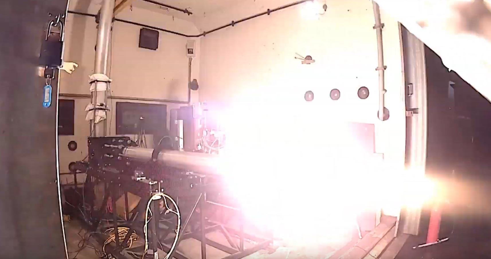 Pulsar hybrid rocket at the moment of ignition